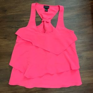 Central Park West Hot Pink Tank Top - Size Large